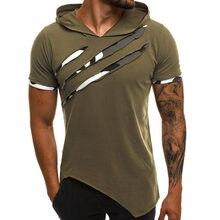 Camiseta masculina de verão com capuz, nova camiseta casual, slim, manga curta, tamanho grande, 3xl, cor lisa, roupas de rua camiseta homme