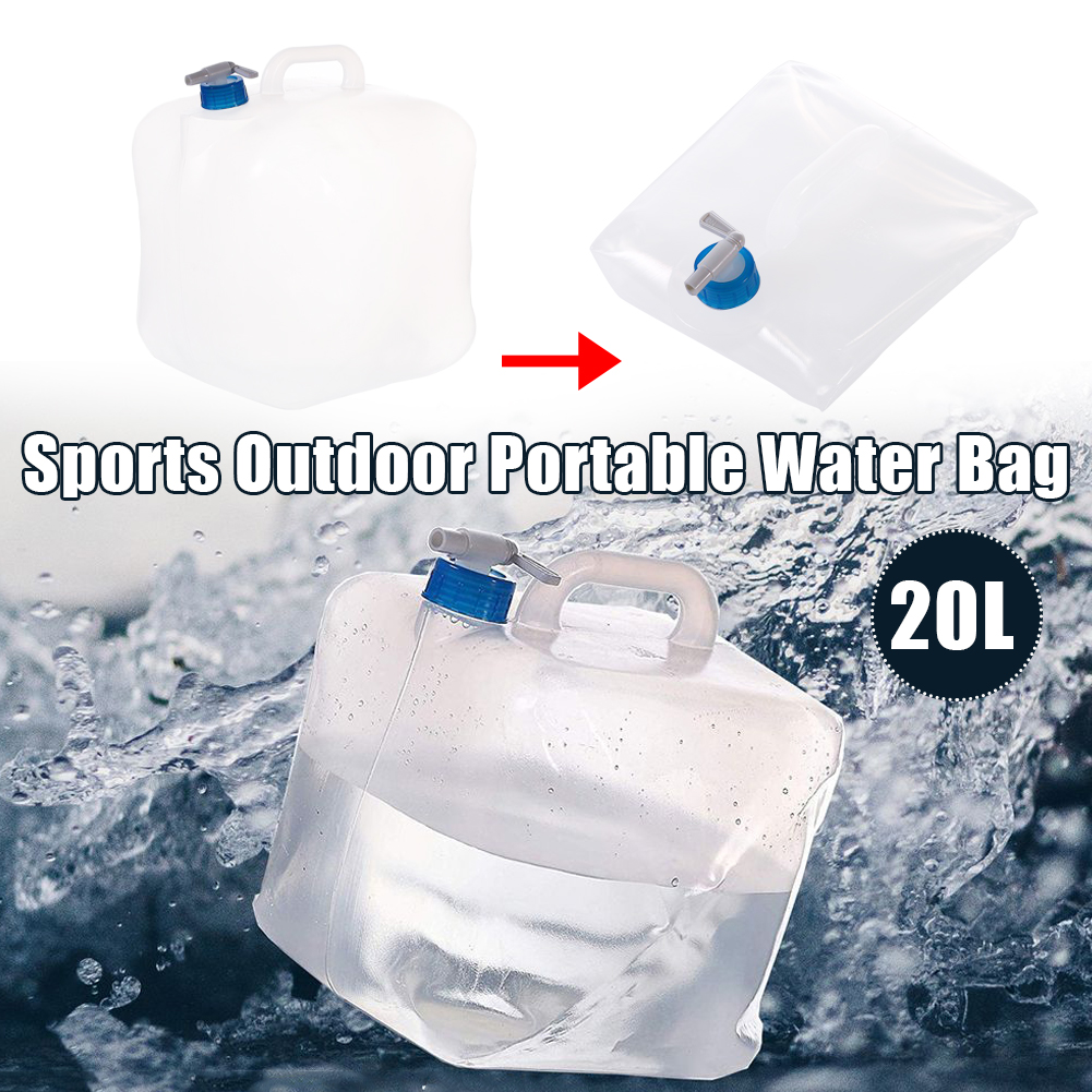 Outdoor Water Bags Foldable portable Drinking Camp Cooking Picnic BBQ Water Container Bag Carrier Car <font><b>20L</b></font> Water <font><b>Tank</b></font> image