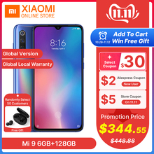 Xiaomi 9 6GB 128GB Mi-9 6GB-RAM GSM/WCDMA/CDMA/LTE Nfc Quick Charge 4.0 Wireless Charging