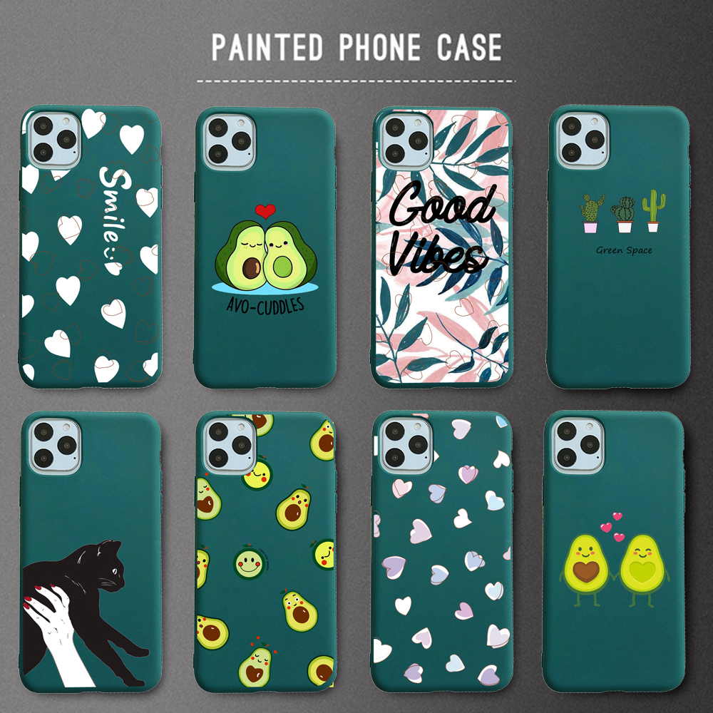 Phone Case For iPhone 11 Pro X 6s 7 8 Plus XR XS Max SE 2020 Case Soft TPU Cover Capa Fundas Coque Avocado Partner Pear(China)