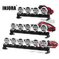 INJORA 1PCS RC Car LED Roof Lamp Lights Bar for 1/10 RC Crawler Car Traxxas TRX-4 SCX10 90046 Recat MST