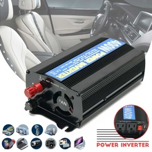 Max 800W 12v DC vdc to 110 volt AC car truck power inverter with car charger cable + battery clip cable
