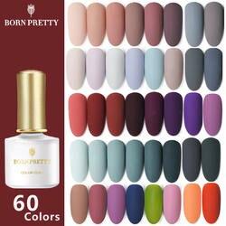 BORN PRETTY 60 цветов матовый УФ-гель для ногтей 6 мл чистый цвет ногтей матовое верхнее покрытие замочить от ногтей гель лак маникюрный лак