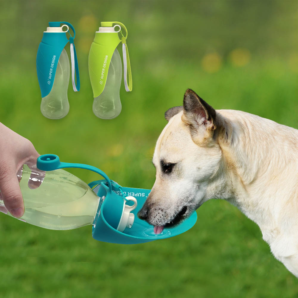 Portable Pet Dog Cat Water Bottle Travel Puppy Cat Drinking Bowl Food Feeder Outdoor Dog Water Dispenser For Small Large Dogs