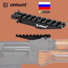 Тактическое крепление ohhunt для ЗАДНЕГО ПРИЦЕЛА AK, 100 мм, 150 мм, основа прицела Пикатинни Вивера 20 мм для охоты, оптика с красной точкой, адаптер ...