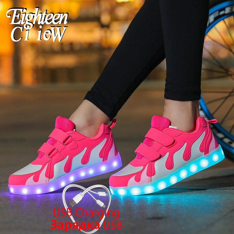Luminous Sneakers Tenis Led Shoes Glowing Sneakers For Boys And Girls Light Up Shoes For Kids Led Luminous Shoes Tenis Infantil