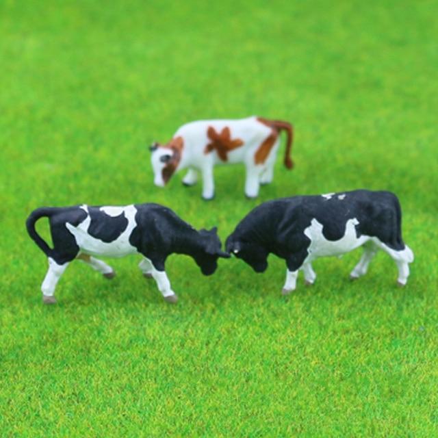 5pcs Ho Soale 1:87and1:150 Sand Table Model Small Animal Color Model Cow Horse Sheep Handicraft Display DIY Handmade Creation 2