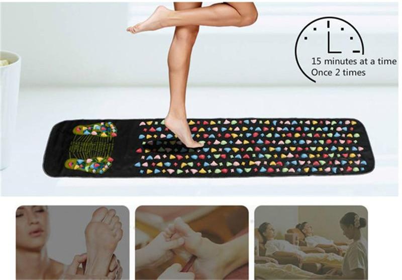 1 шт. 176*35 см рефлексологический камень для ходьбы, для ног, для снятия боли, массажер для ходьбы, коврик для ухода за здоровьем, акупрессура