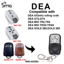 1 шт. DEA GT2, GT4/DEA MIO TR2, TR4 433 МГц пульт дистанционного управления DEA ворота гаража Открыватель двери/гараж команда прокатки код 433,92 МГц