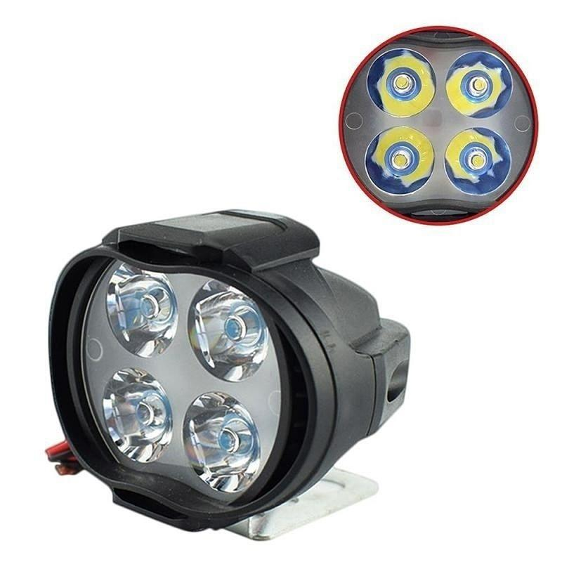 Headlamp Motorbike-Spot-Lights Motorcycle Universal Black 12V LED DC12V title=