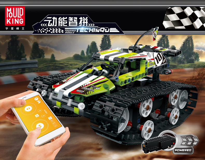 MOULD KING Crawler RC Tracked Racer Compatible 42065 MOC 13023 13024 Building Block 2