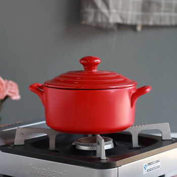 Household high temperature small soup cooking pot kitchen casserole stewpot clay pot rice noodle saucepan bellied stew pan