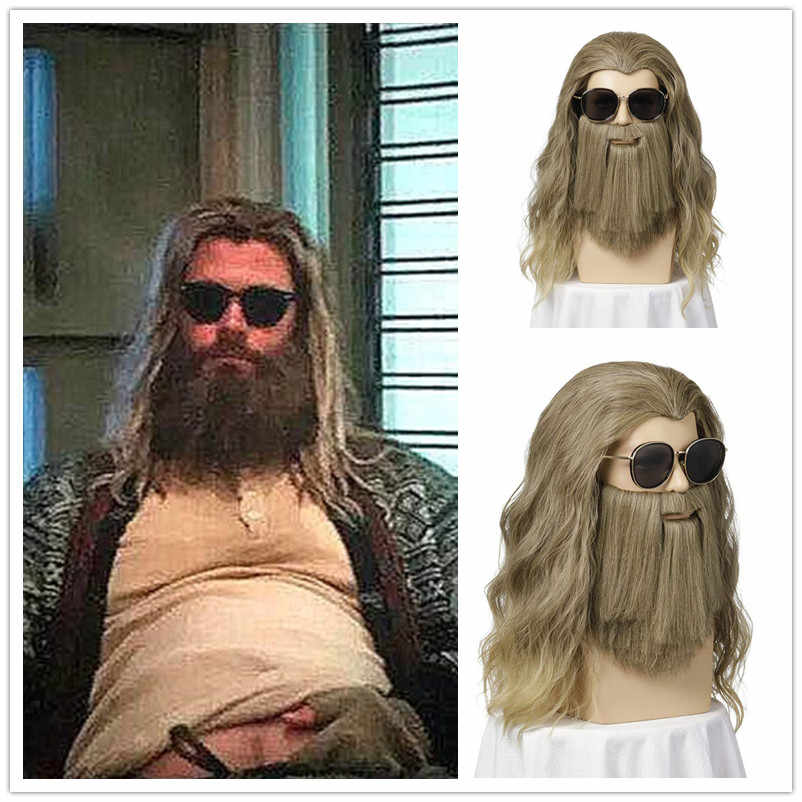 Thor Avengers 4 Endgame Loki Costume Fat Thor Cosplay Wig
