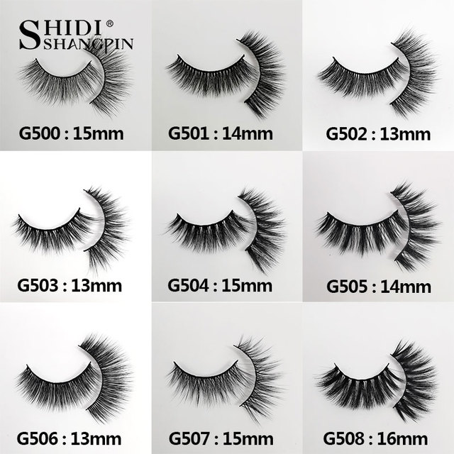 5 Pairs Natural long Eyelashes Makeup False Eyelashes Full Strip Lashes Mink Eyelashes Thick 3d Mink Lashes maquillaje faux cils 5