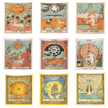 Tapiz de Tarot Mandala India Ouija Hippie brujería tela tapiz Luna psicodélica Boho decoración dormitorio Alfombra de pared