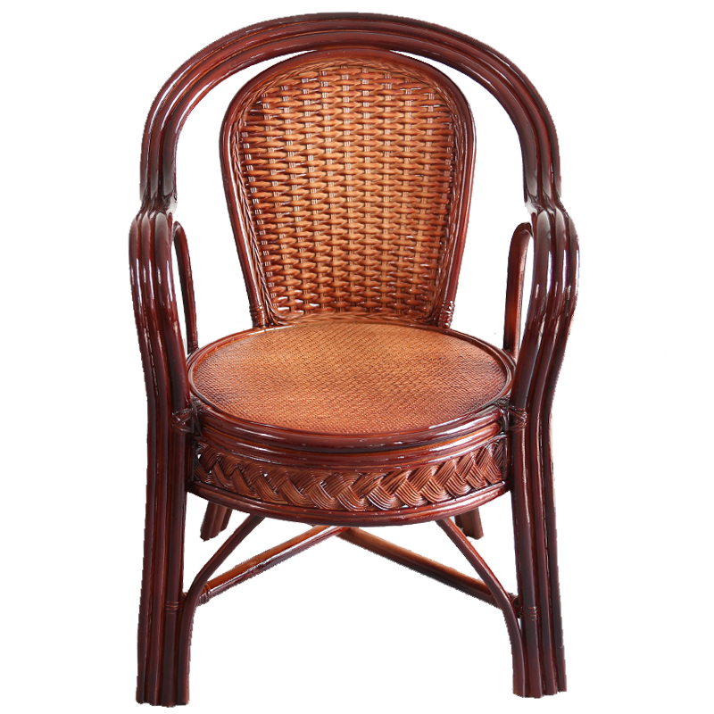 Rattan Chair Back Chair Elderly Leisure Single Rattan Coffee Chair Balcony Study Natural Rattan Home Rattan Chair