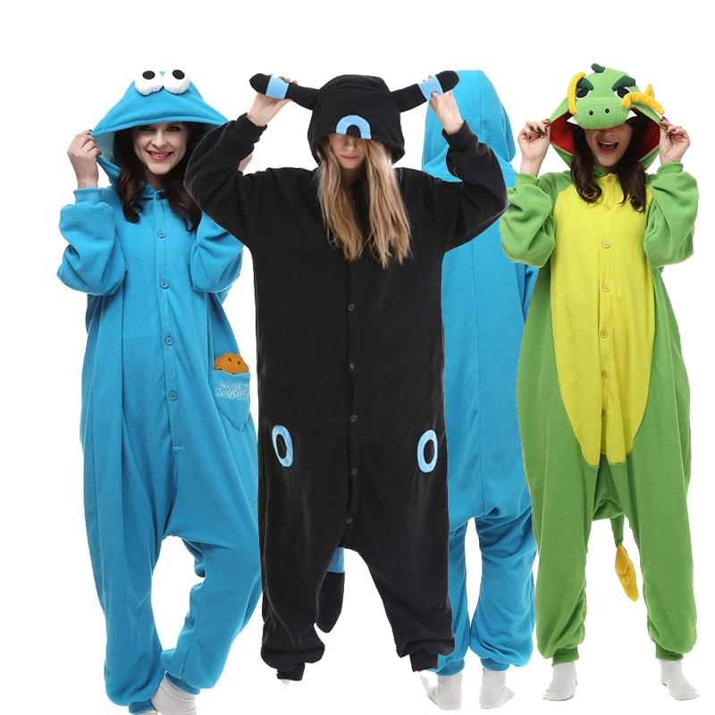 Men Kigurumi Pajamas Adults Fleece Anmal Onsie Cosplay Costume Women Totoro Onesie Cartoon Jumpsuit Christmas One-Piece Pijamas