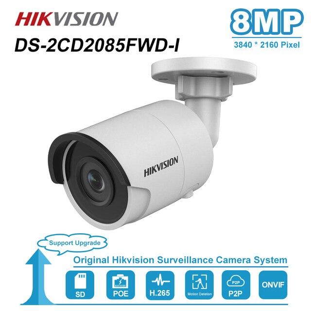 Hikvision 8MP (4 K) Bullet POE kamera IP zewnętrzna odporna na warunki atmosferyczne IP.67 CCTV nadzór bezpieczeństwa noktowizor IR30m DS 2CD2085FWD I