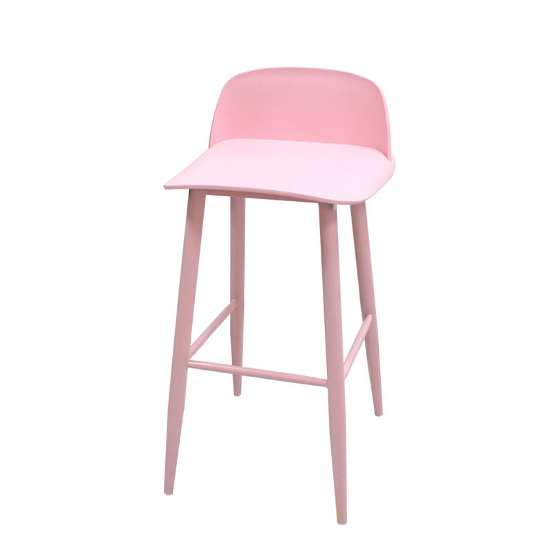 Nordic modern minimalist backrest chair bar stool high stool bar table and chairs front desk cashier bar stool