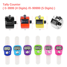 0-9999/ 0-99999 Portable Electronic Digital Counter LCD Hand Held Finger Ring Tally Counter Stitch Marker Plastic Row Counter