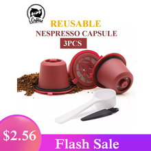 3PCS Reusable Coffee Capsules Pod Nespresso Stainless Steal Mesh Filters Plastic Capsule