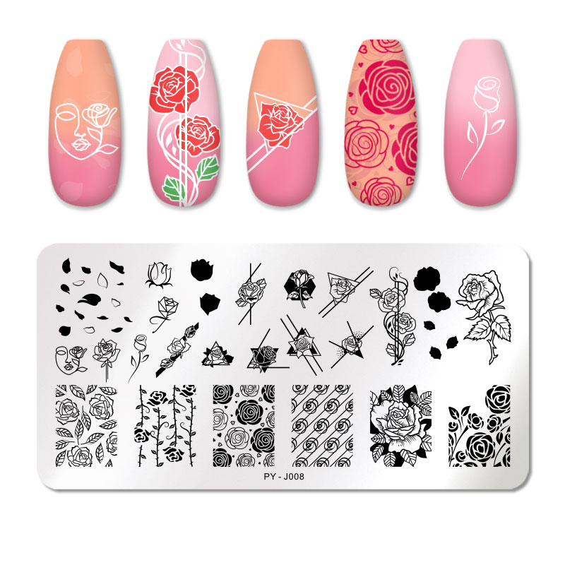 PICT YOU 12*6cm Nail Art Templates Stamping Plate Design Flower Animal Glass Temperature Lace Stamp Templates Plates Image 42