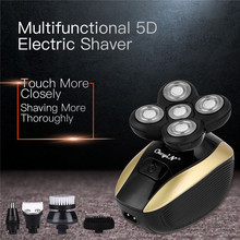 5 In 1 Electric Shaver Nose Hair Trimmer 5D Floating Five Blade Razor Shaving Macine  Hair Clipper  USB Rechargeable  Face Bursh hot lcd display electric shaver 4 blade rechargeable mens shaving razor quick charge barbeador gift nose ear hair trimmer s34