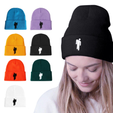 Хлопковая Повседневная шапка бини, однотонная вязаная шапка в стиле хип-хоп Skullies, шапка, аксессуар для костюма, подарки, теплая зимняя шапка унисекс