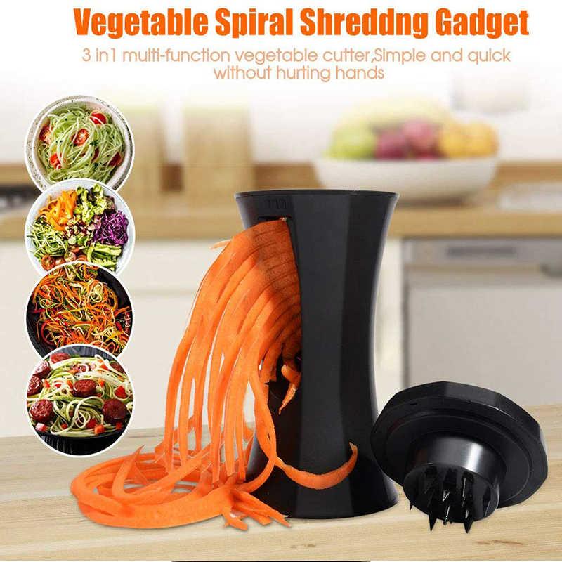 Multifunções spiralizer vegetal espiral slicer abobrinha macarrão macarrão cortador de espaguete fabricante cocina accessoires cozinha gadgets