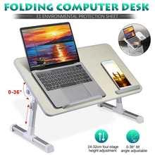 Laptop Desk Table-Stand Notebook-Desk Ergonomic Computer-Table Cooling-Fan Folding