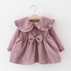 Для маленьких девочек, платье, длинный рукав, платье для осени и зимы, 1 год, платье принцессы на день рождения для маленьких девочек; Рождест...