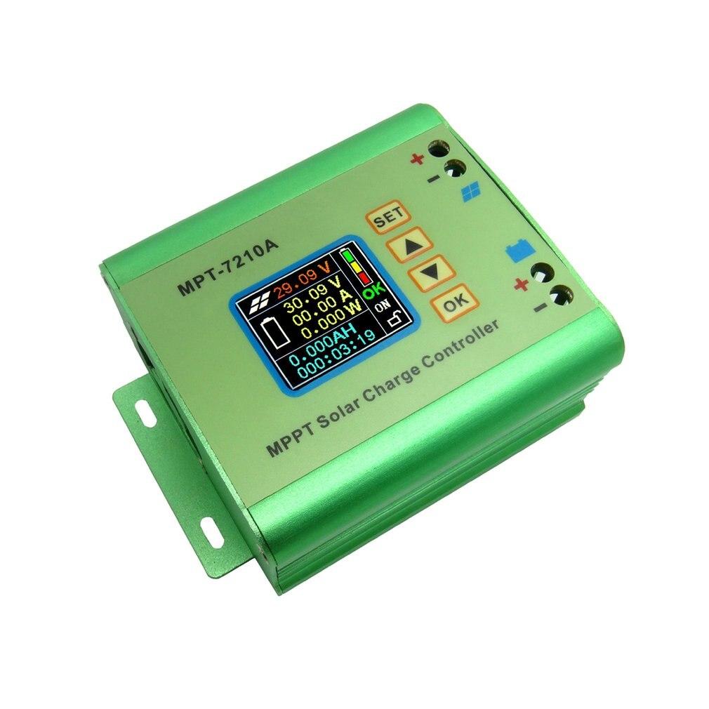 mpt 7210a cor display lcd mppt controlador de carga do painel solar 24 36 48 60