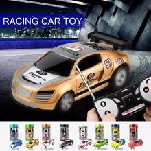 цена на RC Car Mini Radio Remote Control Micro RC Racing Car with Road Blocks Adult Kids Gift 8cm x 3.5cm x 2cm For Kids Children Toys