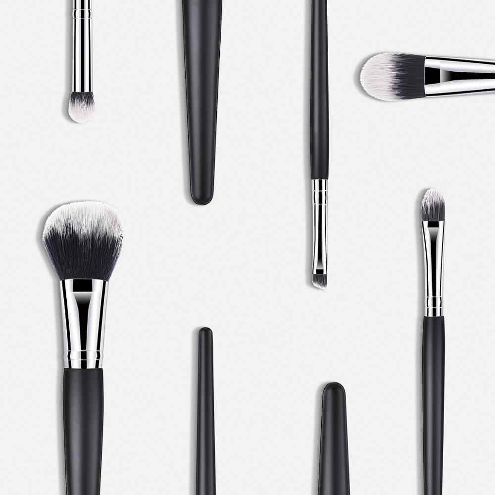 Miraitowa pinceaux de maquillage poudre fond de teint fard à paupières maquillage pinceaux ensemble pinceaux cosmétiques doux cheveux synthétiques visage 5-12 pièces