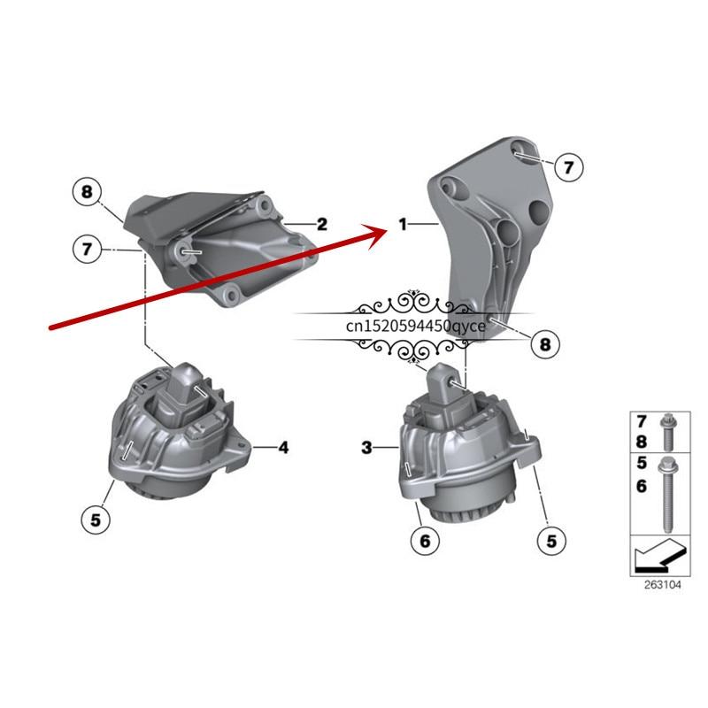Car Engine Suspension Machine Foot Pad F11 F10 520Db MwN47 N20 F18 530LE Fixed Bracket Cushion Rubber Sleeve Base