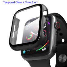 Protector-Cover Bumper Tempered-Glass Apple Watch Case 44mm 40mm 38mm 1-2-3-4-5-6-Se-Accessories