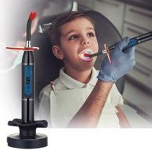Беспроводной Стоматологический СВЕТОДИОДНЫЙ светильник, синяя отверждающая машина, беспроводная лампа, регулируемая продолжительность р...