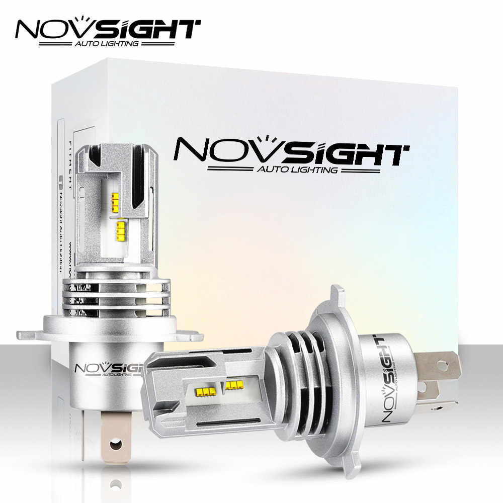 NOVSIGHT Super MiNi H4 Led H7 Car Headlight Bulbs H11 H8 H9 H16JP 9005 9006 H1 H3 55W 10000LM 6000K 12V Auto Headlamp