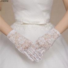 Короткие кружевные свадебные перчатки полный палец для вождения