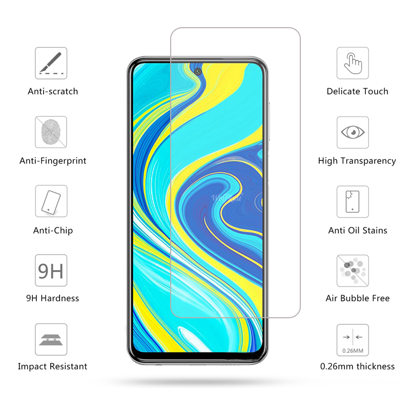4-in-1 Camera Tempered Glass For Xiaomi Redmi Note 9s Note 9 Pro Screen Protector Protective Glass For Redmi Note 9S 9 S Glass 3