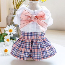 Skirt Pink Clothing Dress Pet-Dog-Clothes Spring Puppy Yorkie Chihuahua Summer Bow