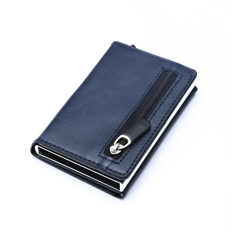 Luxury RFID Crazy Horse Leather Mens Wallet Man Cowhide Cover Coin Purse Small Brand Male Credit&ID Multifunctional Wallets