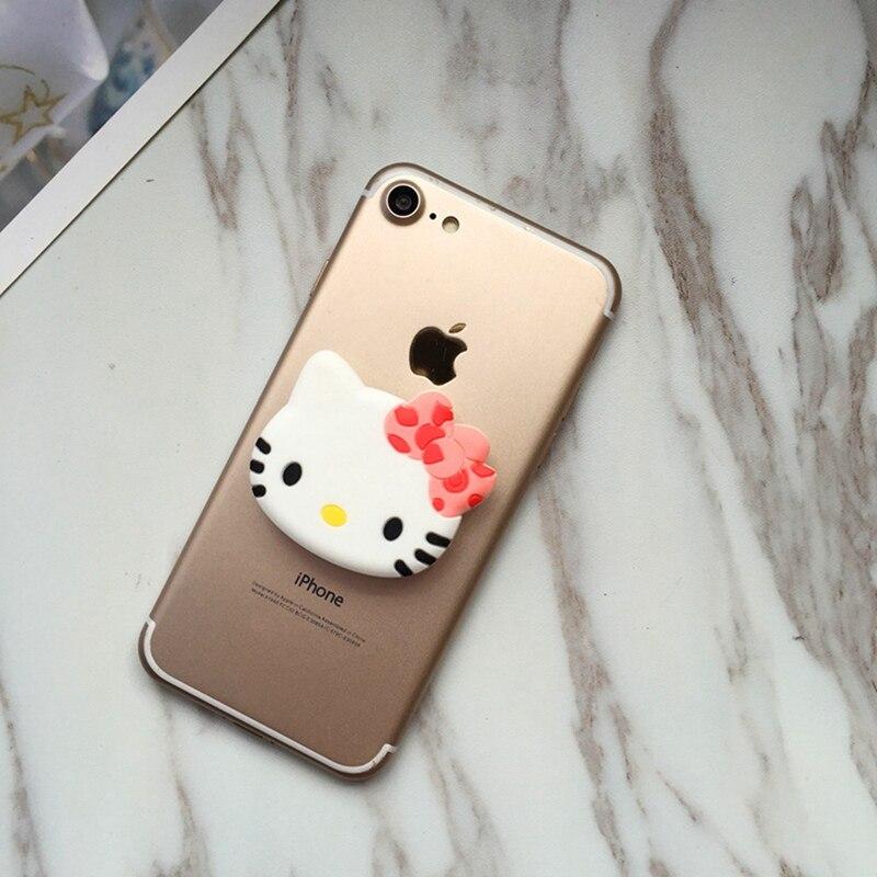 Силиконовый Многофункциональный держатель для телефона hello kitty с креплением на гнездо для подушки безопасности для мобильного телефона и