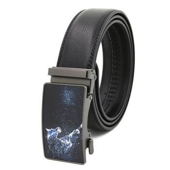 New casual mens belt classic fashion high-quality buckle automatic exquisite 3D versatile jeans