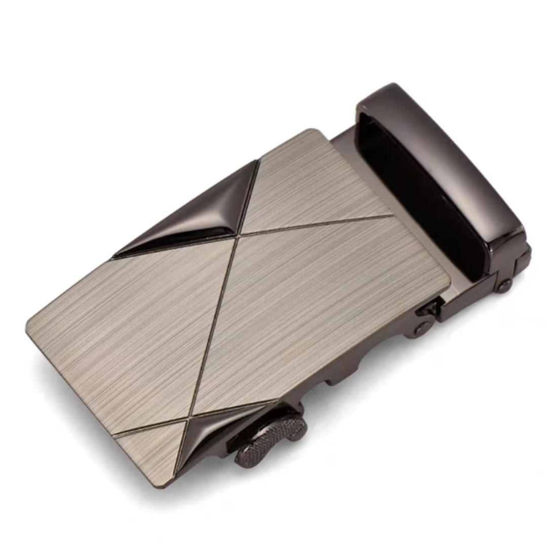 Fashion Men's Business Alloy Automatic Buckle Unique Men Plaque Belt Buckles For 4cm Ratchet For Leather Belt Accessories