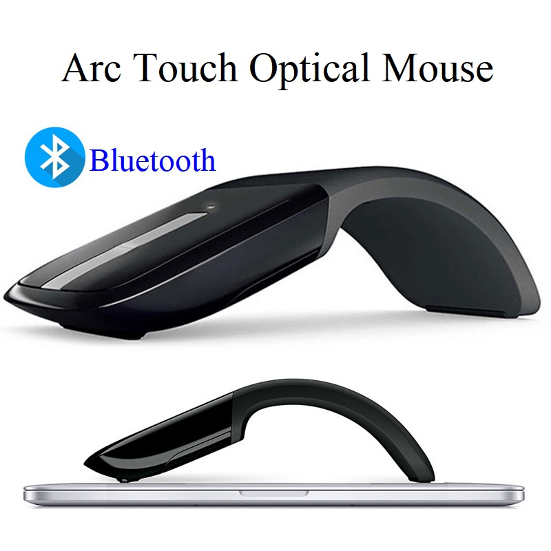 Bluetooth Wireless Mouse Arc Touch Portable Ergonomic Computer Mouse Folding Optical Mini Mice For Notebook PC