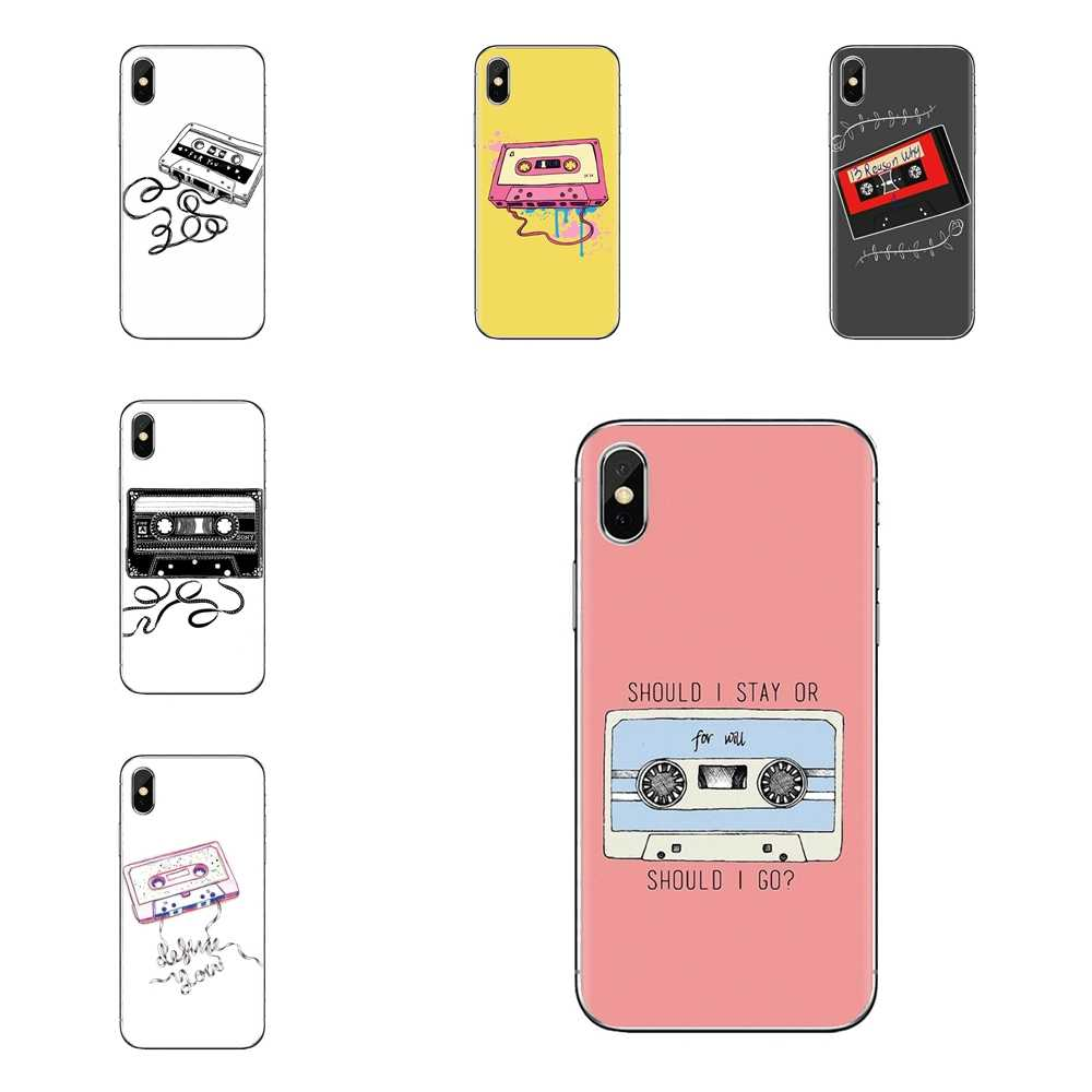 Silikon Shell Cover Für Samsung Galaxy S3 S4 S5 Mini S6 S7 Rand S8 S9 S10 Plus Hinweis 3 4 5 8 9 dreizehn 13 Gründe kassette band