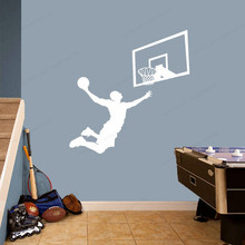 цена на Basketball Player  Backboard Wall Decal  Backboard removable Wall Art mural basketball wall sticker for home decor JH119