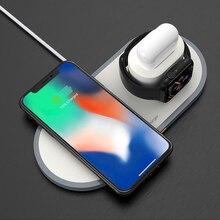 3 1 Qi 무선 충전기 10W 빠른 무선 충전 패드 아이폰 8 X Xs 최대 Xr 애플 시계 4 3 2 1 Airpods 삼성