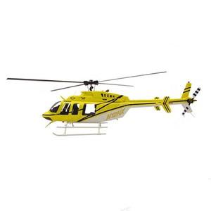 Радиоуправляемый вертолет из стекловолокна Fuselage 470 Размер колокол 407 длина 900 мм Точная 1/13 Масштаб Модель комплект версия